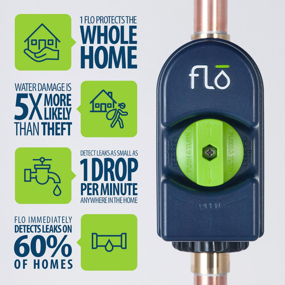 Flo Smart Home Water Monitoring, Alarm and Automatic Shutoff System