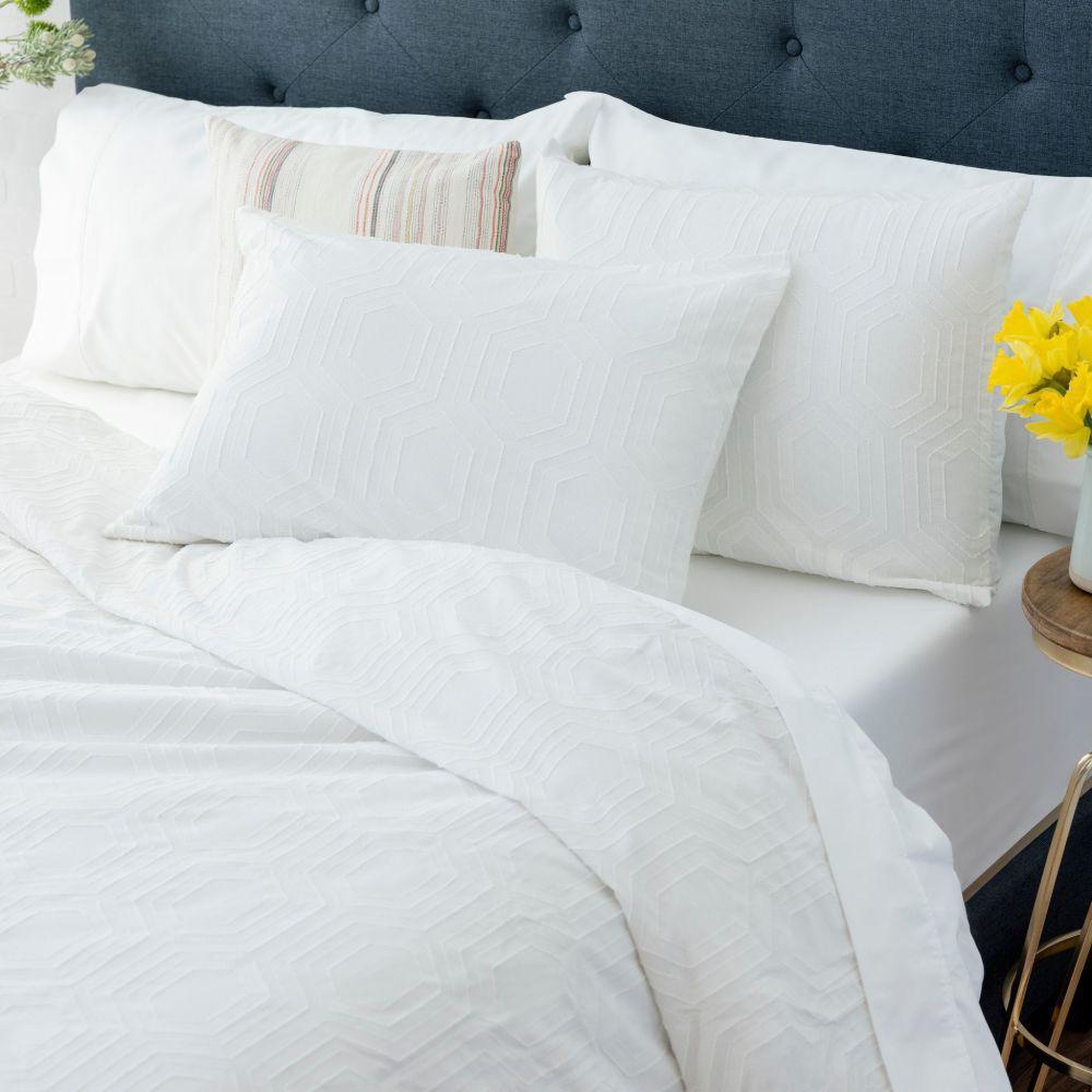 The Sahara Cotton White King Comforter Set