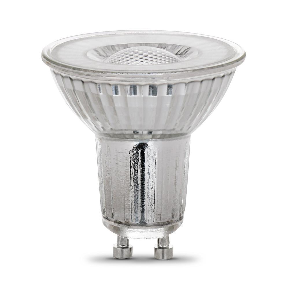 50-Watt Equivalent MR16 GU10 Dimmable LED 90+ CRI Flood Light Bulb, Bright White (6-Pack)