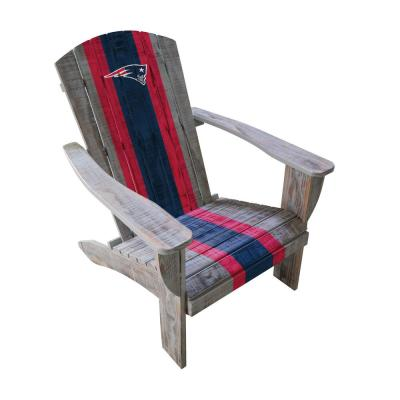 New England Patriots Wood Adirondack Chair