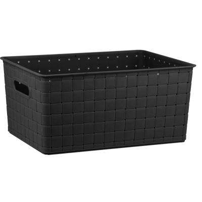 10.87 in x 15.12 in. Black Basket