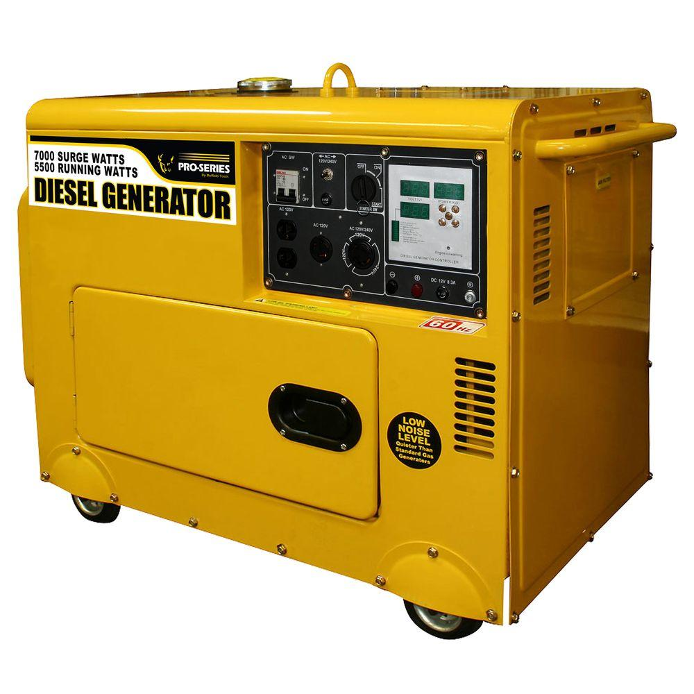 PRO-SERIES 7,000-Watt Diesel Generator with Digital Control Panel and Remote Start