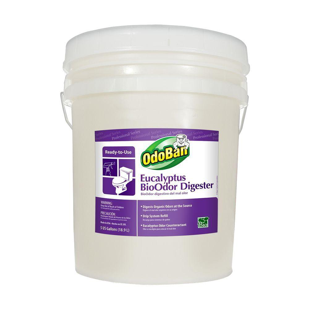 OdoBan Eucalyptus BioOdor Digester Odor Counteractant Spray 5 Gal. Pail