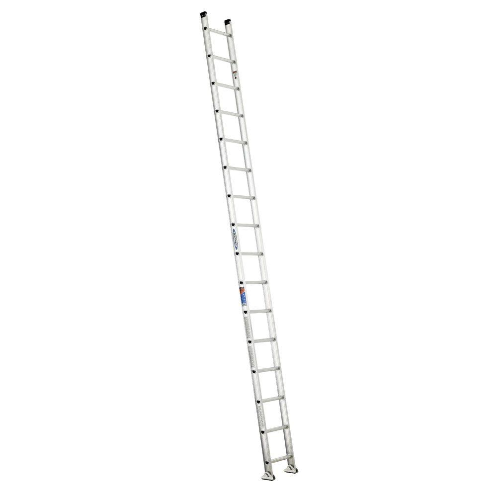 16 ft. Aluminum D-Rung Straight Ladder with 300 lb. Load Capacity