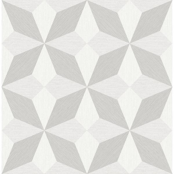 A-Street 8 in. x 10 in. Valiant Off-White Faux Grasscloth Geometric