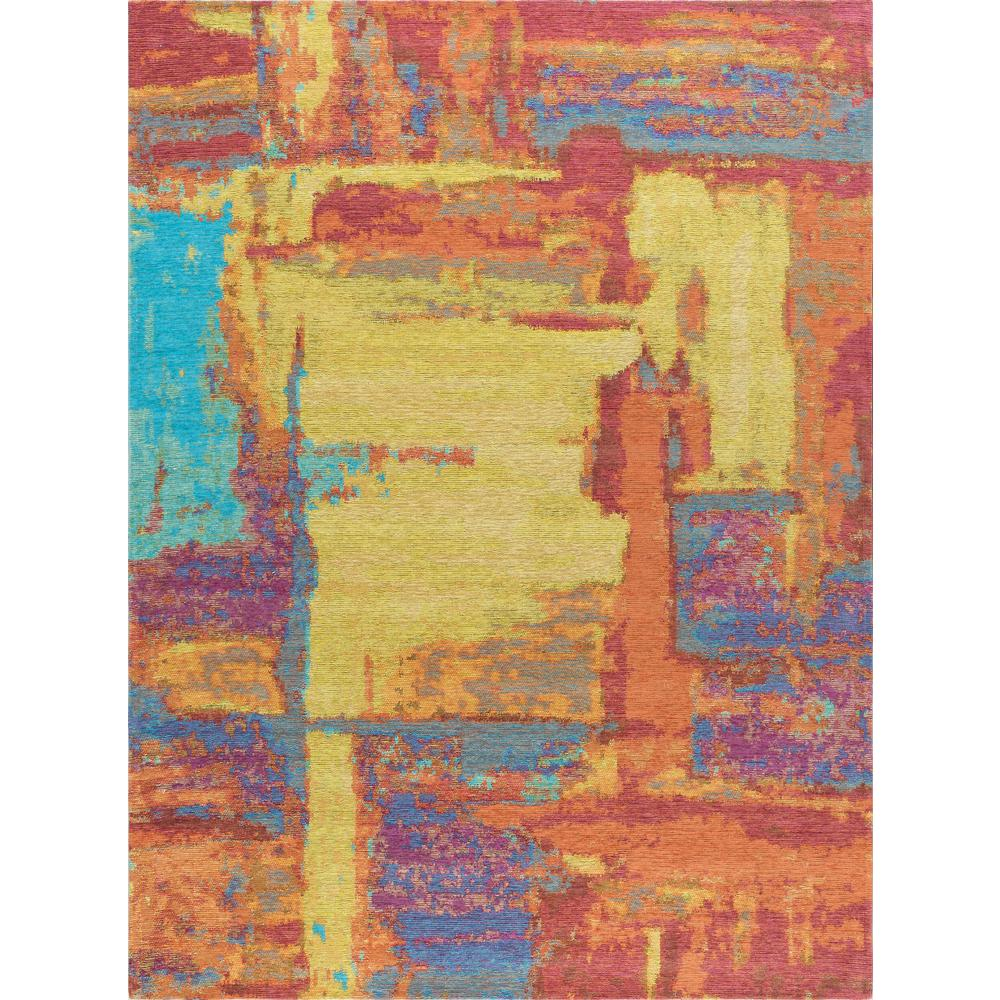 Tayse Rugs Dynasty Orange And Pink 5 Ft. X 7 Ft