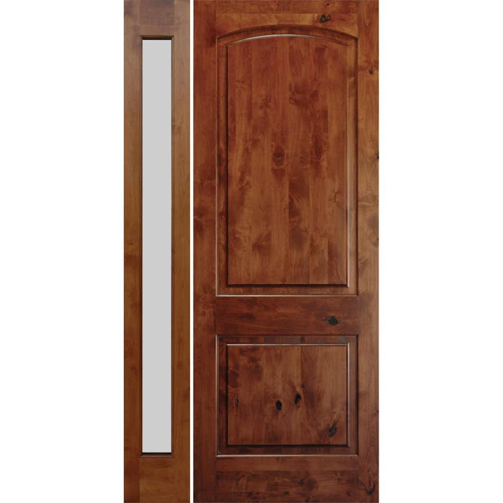 Krosswood Doors 30 In X 80 In Rustic Knotty Alder 2: Krosswood Doors 50 In. X 96 In. Rustic Knotty Alder