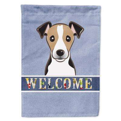 11 in. x 15-1/2 in. Polyester Jack Russell Terrier Welcome Garden Flag  2-Sided 2-Ply