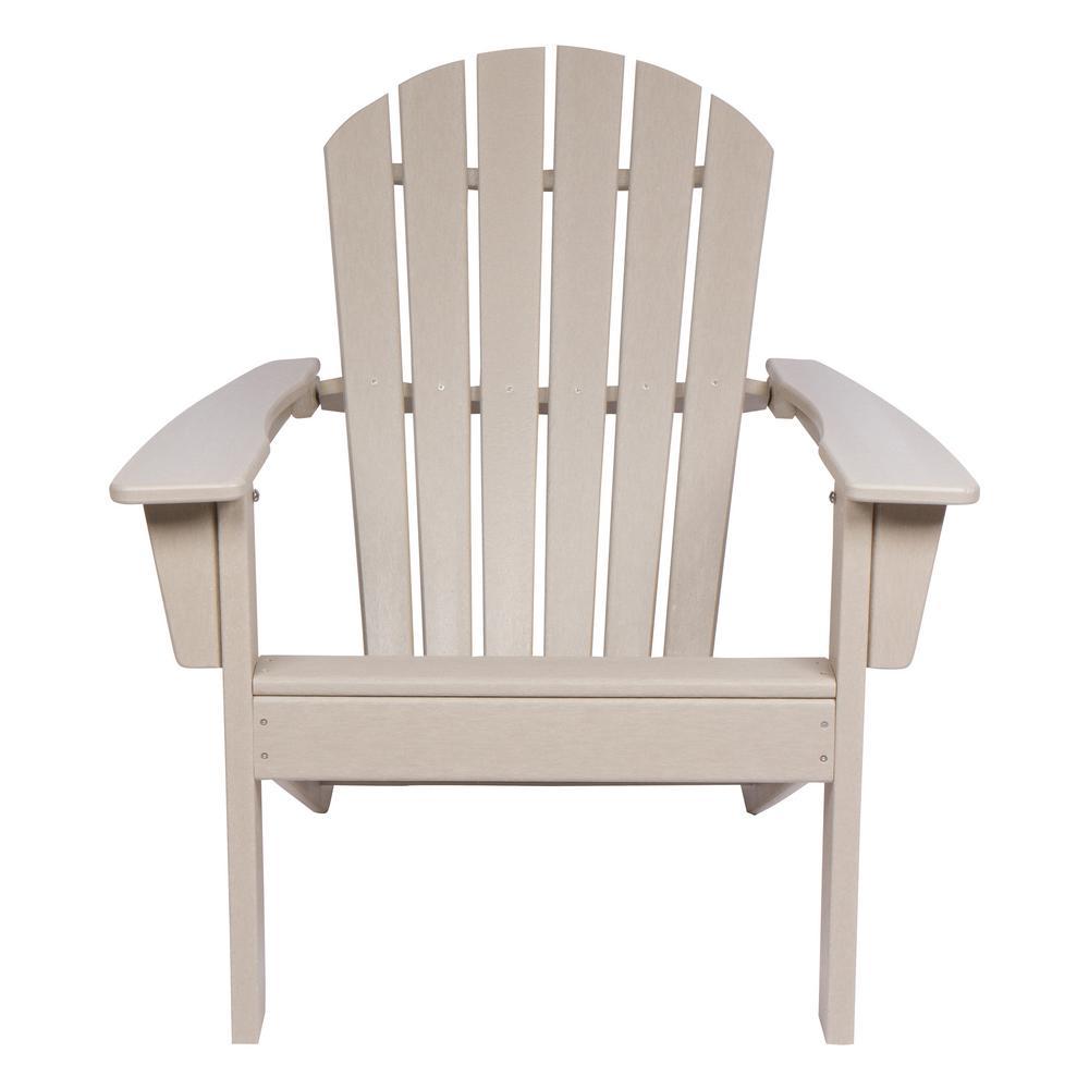 Taupe Grey Seaside Plastic Adirondack Chair
