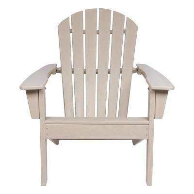 Taupe Grey Seaside Plastic Adirondack Chair