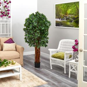 5.5 ft. Lychee Artificial Tree with Natural Trunk