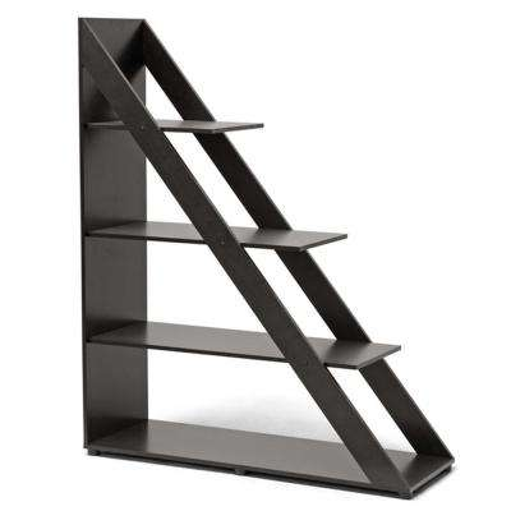 Psinta Dark Brown Open Bookcase