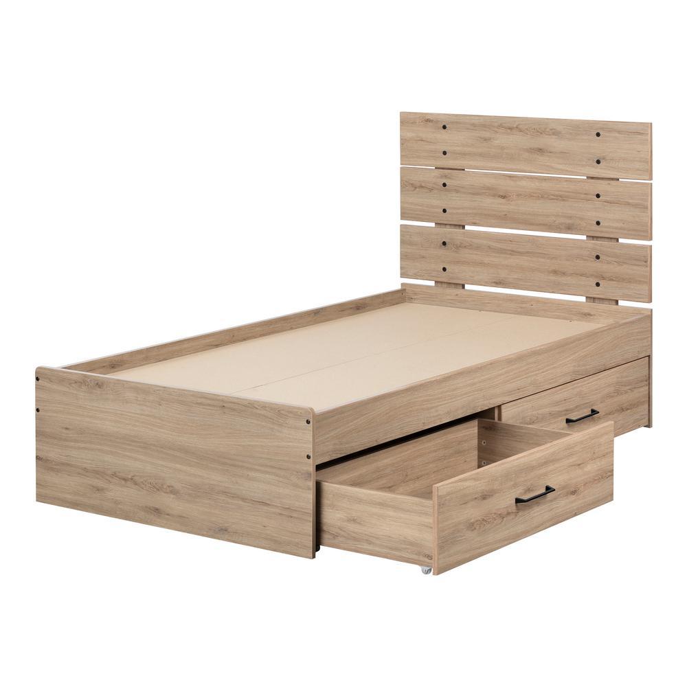 Fakto Rustic Oak Twin Bed
