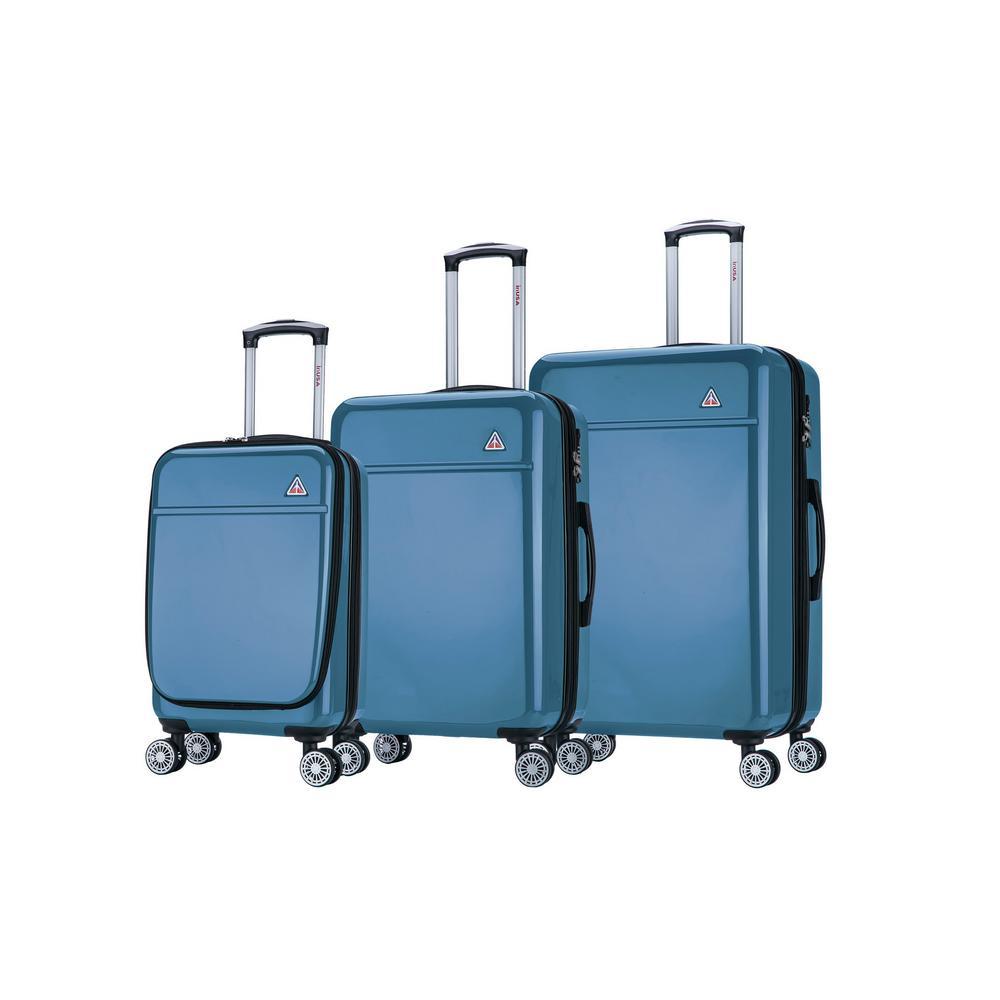 Avila lightweight hardside spinner 3 piece luggage set  20'',24'', 28'' in. Navy Blue