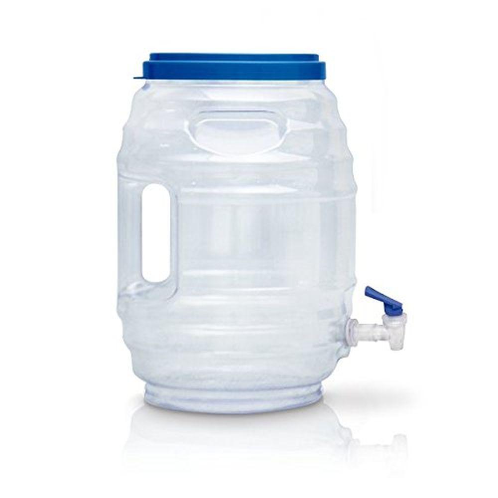 3 Gal. Vitrolero Aguas Frescas Tapadera Plastic Water Blue Snap Spigot