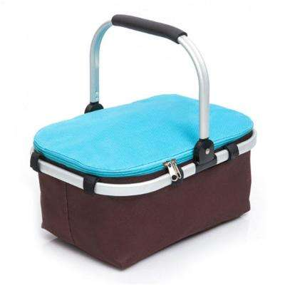 4--Gal. Portable Foldable Thermal Insulation Picnic Basket Blue