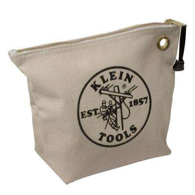 10 in. Consumables Natural Canvas Zipper Bag