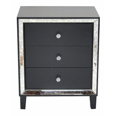 Shelly Black Wood Cabinet with a Drawers