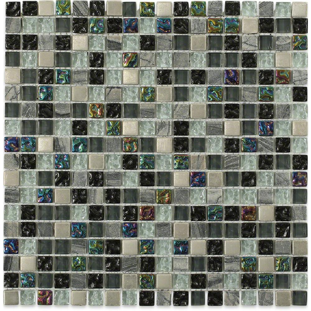 Splashback Tile Seattle Skyline Blend Squares 12 in. x 12...