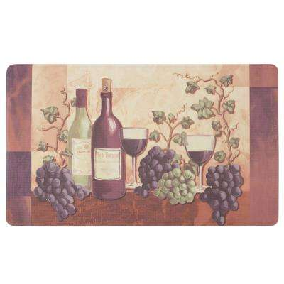 Cabernet 24 in. x 36 in. Basket Weave Printed Anti-Fatigue Kitchen Mat