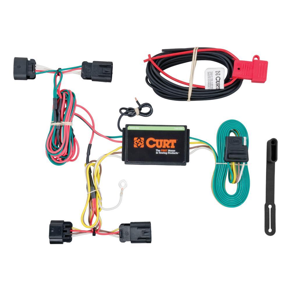 CURT Custom Wiring Harness (4-Way Flat Output) on trailer mounting brackets, trailer brakes, trailer hitch harness, trailer plugs, trailer fuses, trailer generator,
