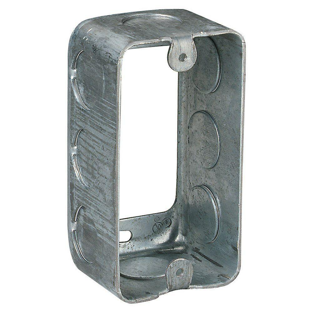 1-Gang Utility Box, Silver (Case of 20)
