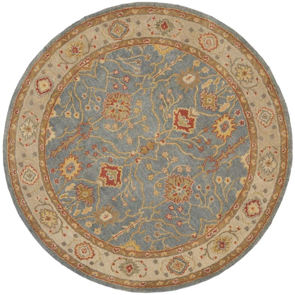 safavieh antiquity blue ivory 3 ft 6 in x 3 ft 6 in round area rug at314a 4r the home depot. Black Bedroom Furniture Sets. Home Design Ideas