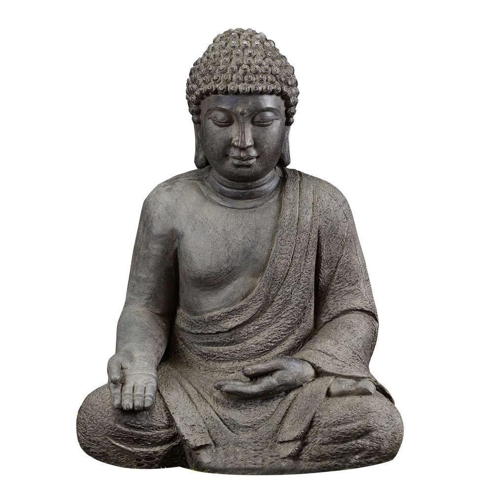 Luxen Home Meditating Buddha Garden Statue-WH005 - The ...