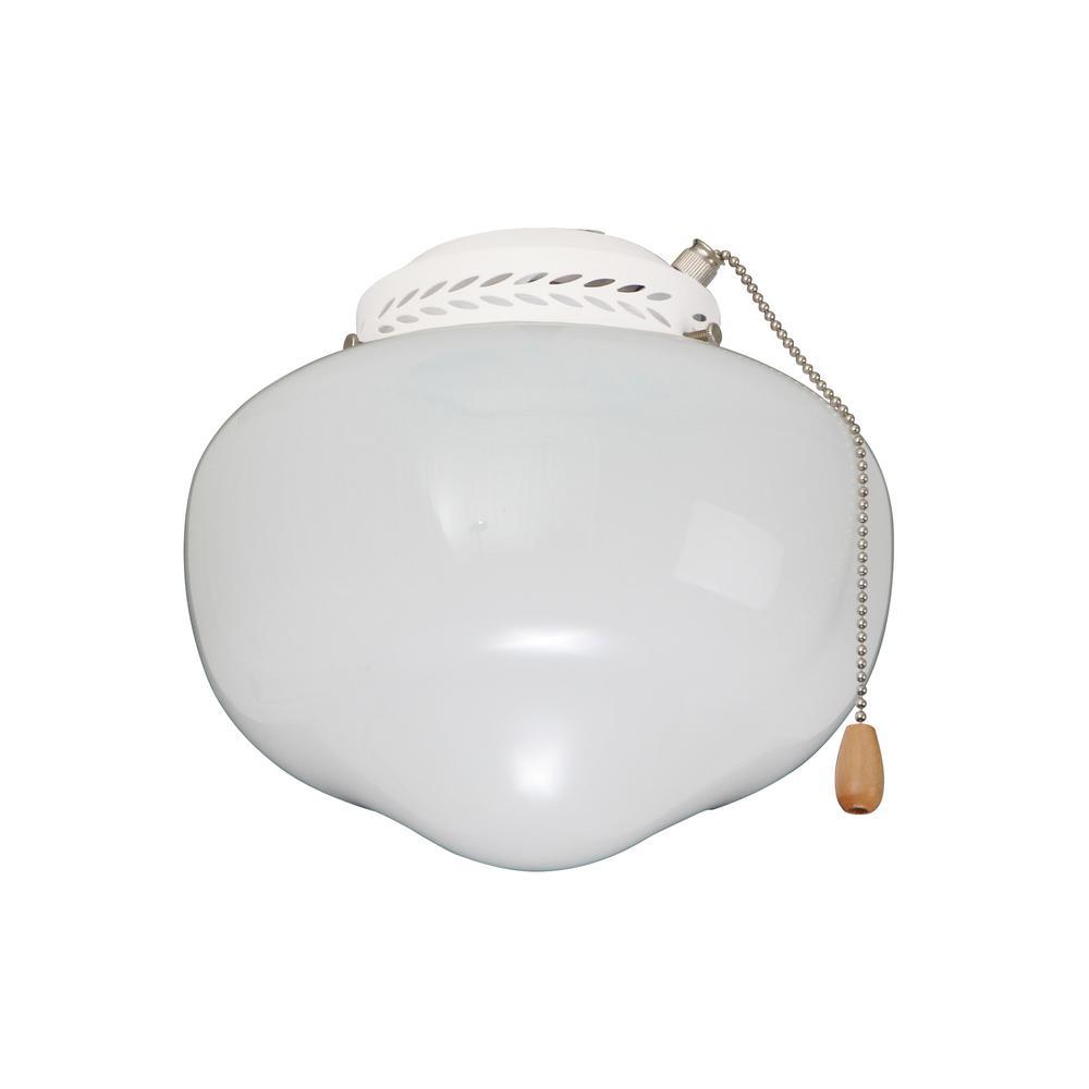 Heat And Glow Escape Fan Kit: Emerson Schoolhouse Globe Appliance White Ceiling Fan