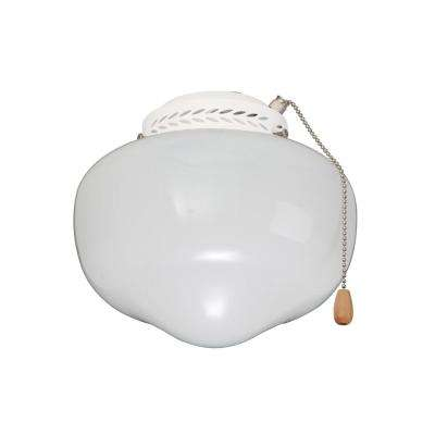 Schoolhouse Globe Appliance White Ceiling Fan Light Kit