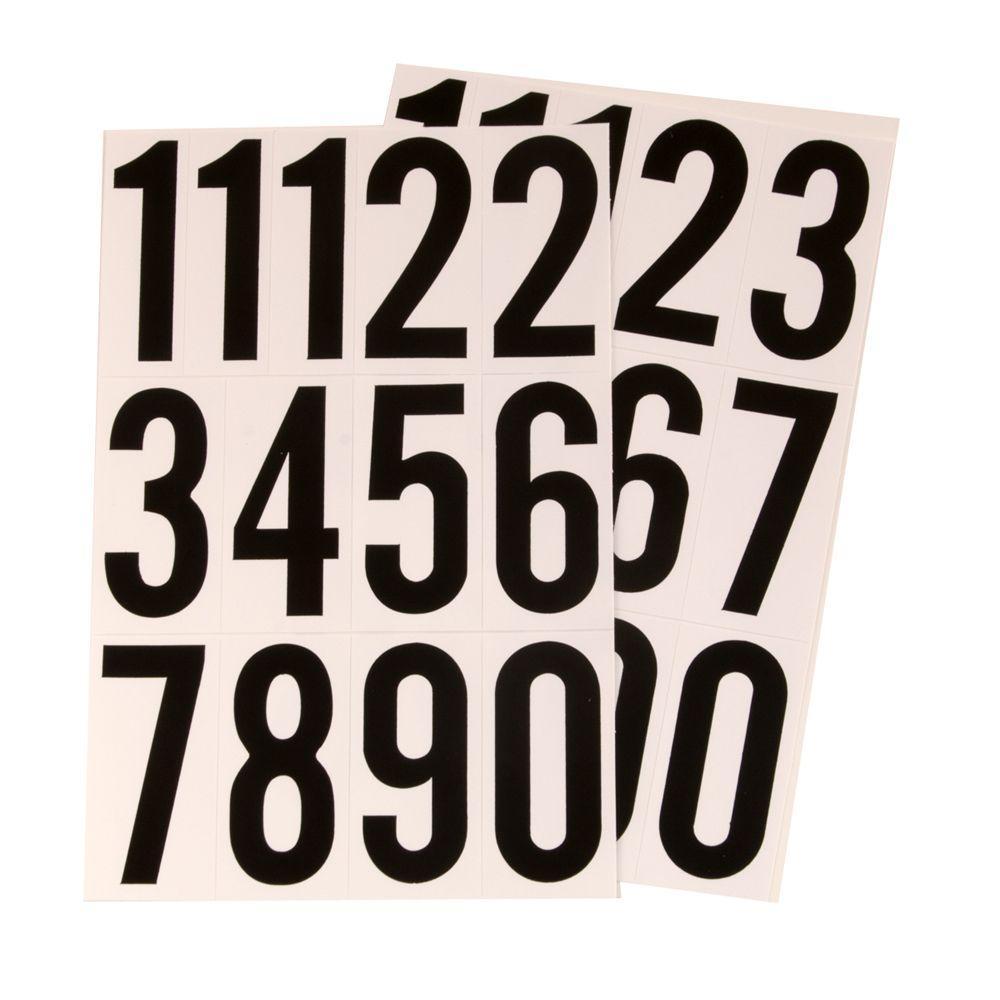 c71557110c79 HY-KO 3 in. Vinyl Black/White Numbers Set-MM-4N - The Home Depot