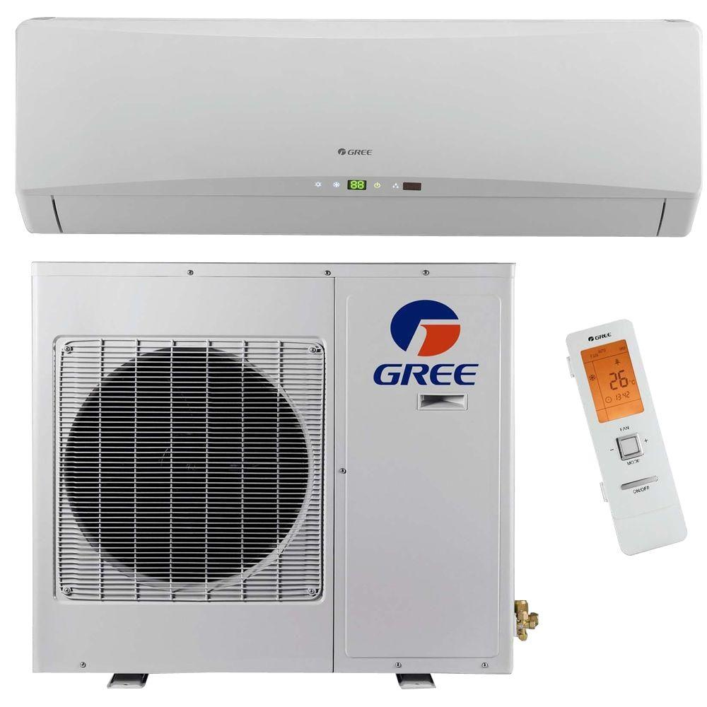 gree ultra efficient 9,000 btu (3/4 ton) ductless (duct free) mini