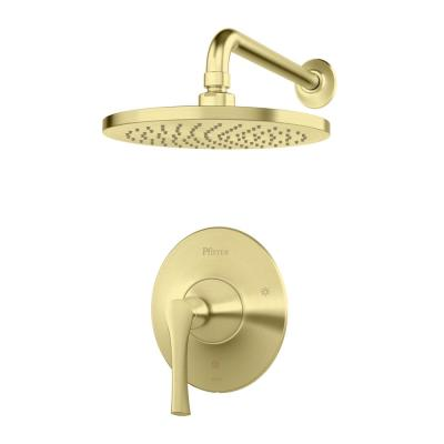 Rhen 1-Handle Shower Only Trim Kit in Brushed Gold (Valve Not Included)