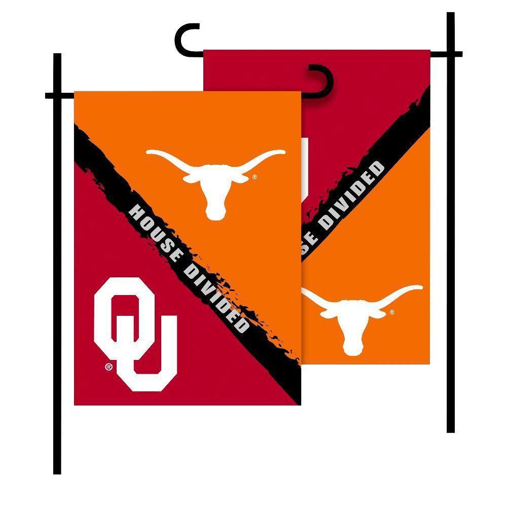 NCAA Oklahoma Texas House Divided 1 Ft. X 1.5 Ft. Collegiate 2