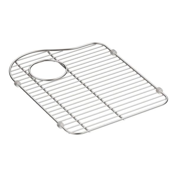Hartland 13-1/8 in. x 16-7/8 in. Stainless Steel Left-Hand Bottom Bowl Rack for K-5818 Sink