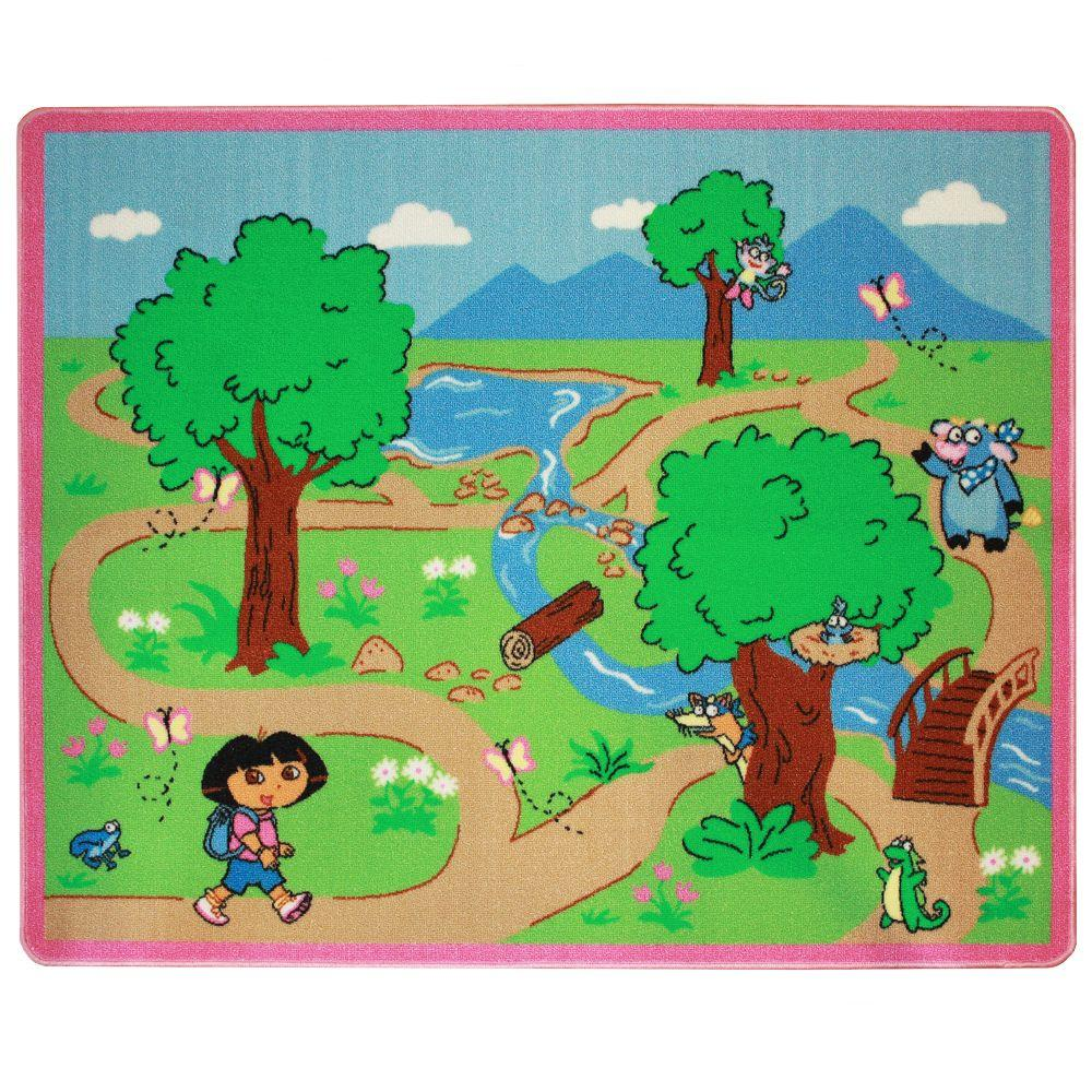 G.A. Gertmenian & Sons Dora Adventure 3 ft. 4 in. Square Activity Mat-DISCONTINUED