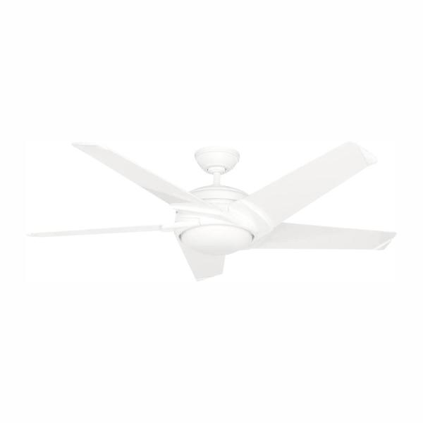 Stealth DC 54 in. LED Indoor White Ceiling Fan with Remote