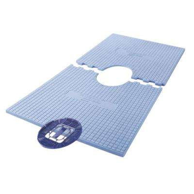 60 in. x 32 in. Tile Ready Pre-Sloped Shower Tray with Center Drain