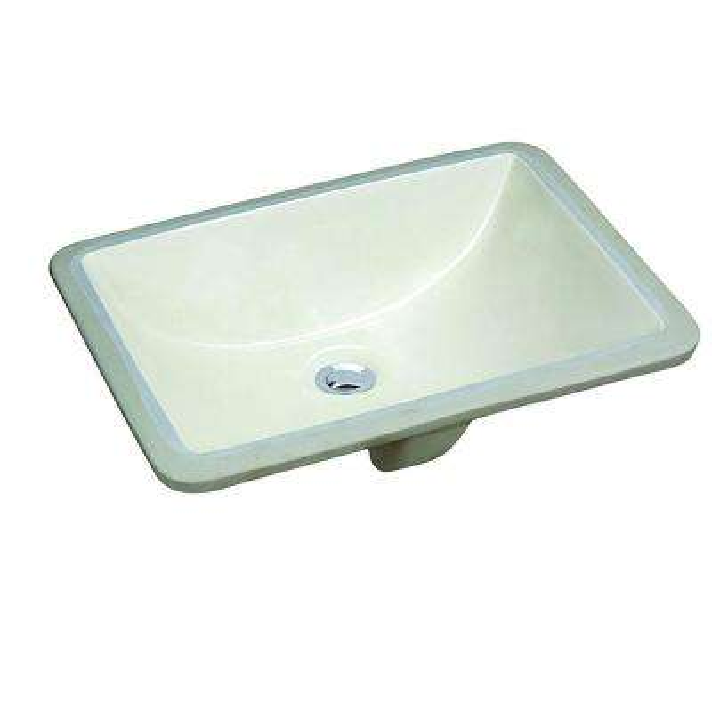 18 in. x 13 in. Ceramic Rectangular Lavatory Undercounter Bathroom Sink in Biscuit White