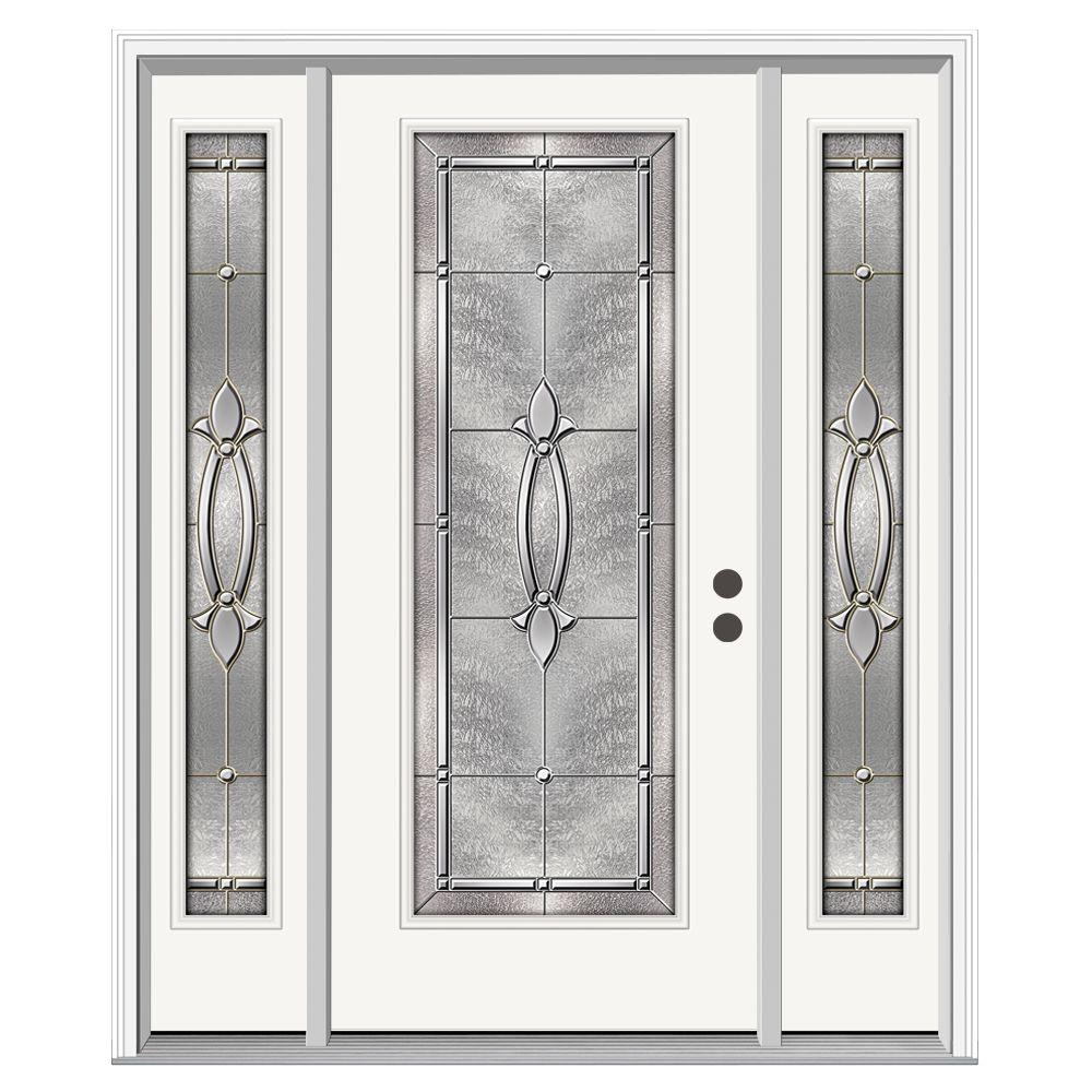 Jeld wen 62 in x 80 in full lite blakely primed steel for Jeld wen front entry doors