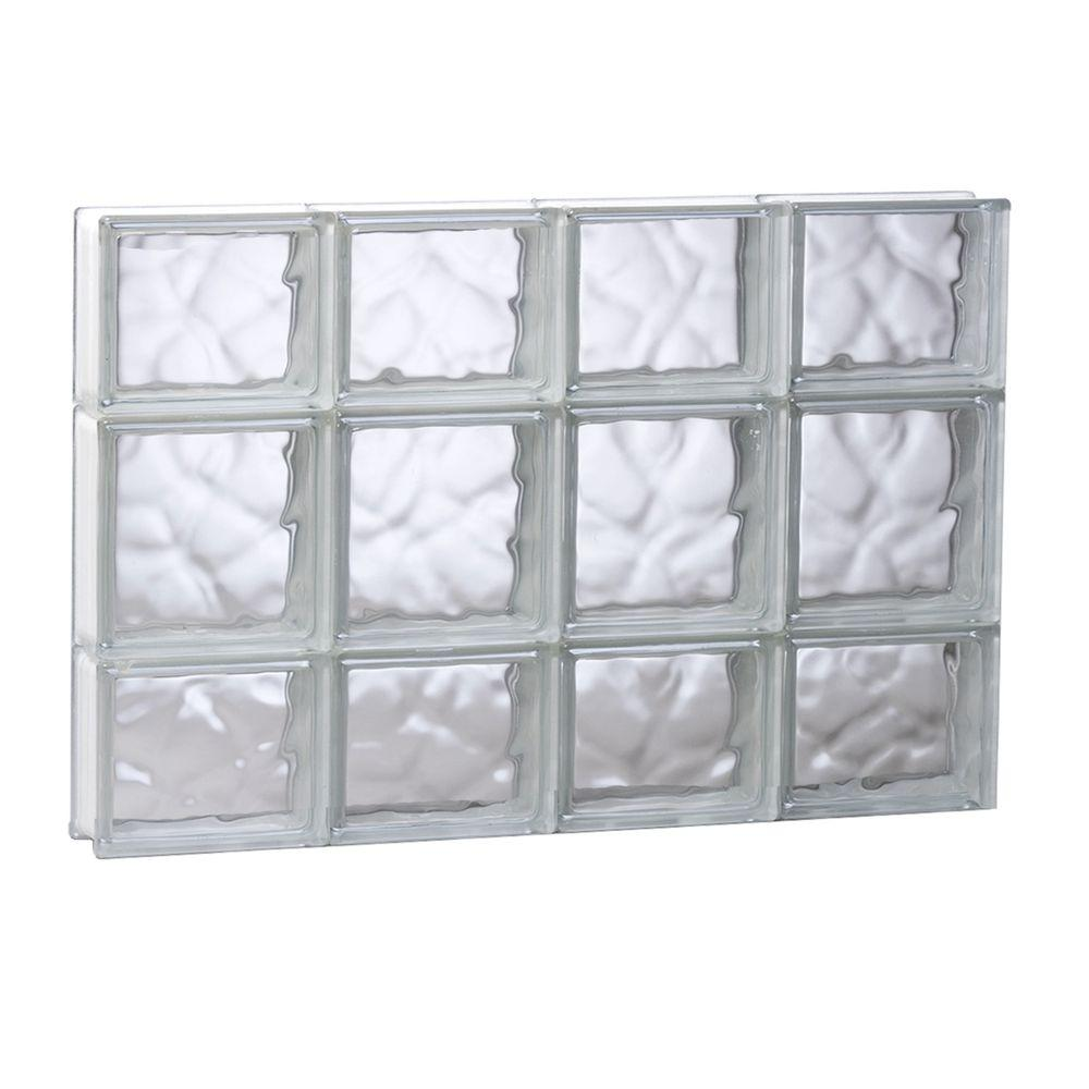 Clearly Secure 31 in. x 19.25 in. x 3.125 in. Frameless Wave Pattern ...