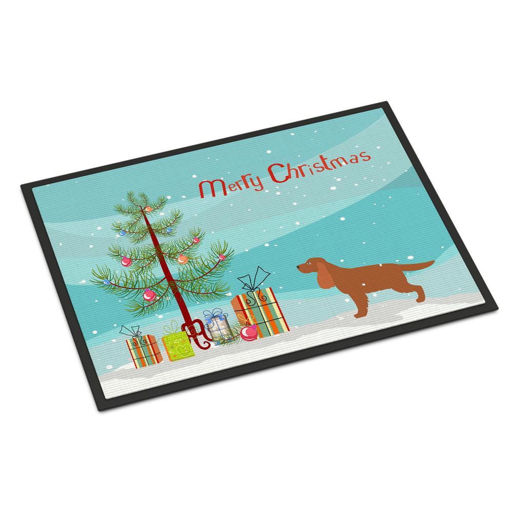 18 in. x 27 in. Indoor/Outdoor English Cocker Spaniel Christmas Door Mat