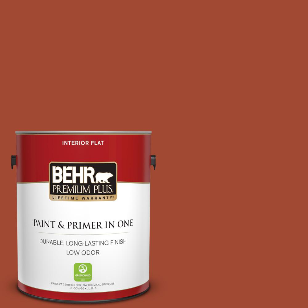 1 gal. #200D-7 Rodeo Red Flat Low Odor Interior Paint and