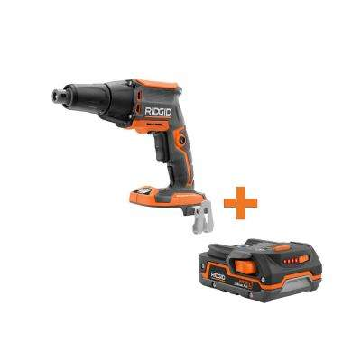 18-Volt Cordless Brushless Drywall Screwdriver with Collated Attachment with 1.5 Ah Lithium-Ion Battery