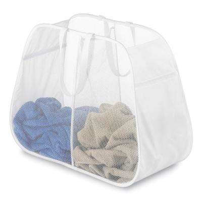White Pop and Fold Double Hamper