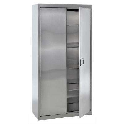 72 in. H x 36 in. W x 18 in. D Freestanding Stainless Steel Cabinet