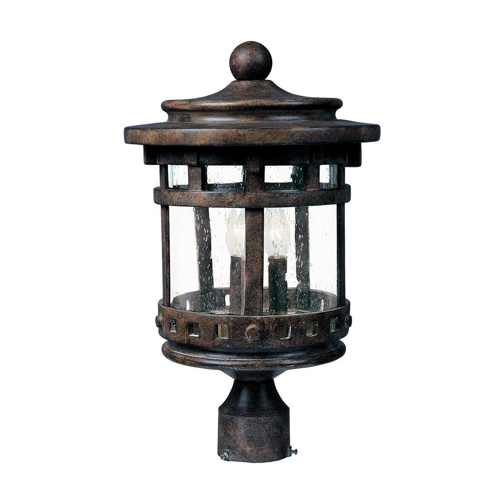Santa Barbara DC 3-Light Sienna Outdoor Pole/Post Mount
