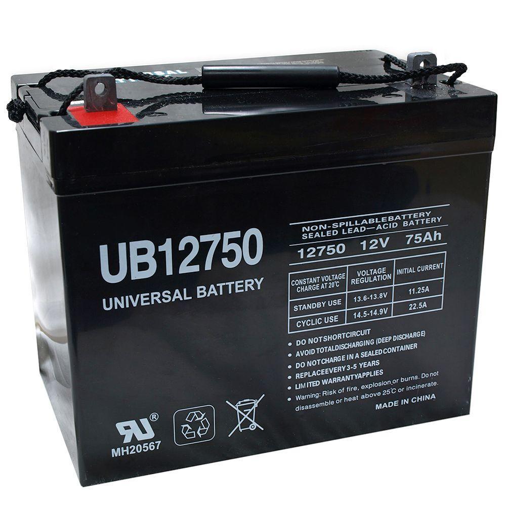 UPG 12-Volt 75 Ah I6 Terminal Sealed Lead Acid (SLA) AGM Rechargeable Battery