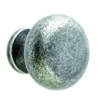 1-1/4 in. Round Knob in Tumbled Pewter (250-Pack)