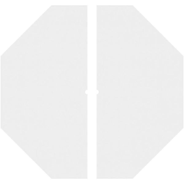 Ekena Millwork 1 In P X 12 1 2 In C X 36 In Od X 1 In Id Logan Architectural Grade Pvc Contemporary Ceiling Medallion Two Piece Cmp36lg2 01000 The Home Depot